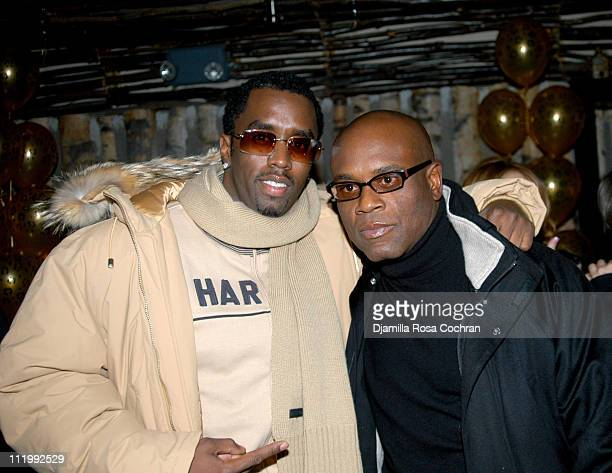 Sean 'P Diddy' Combs and Antonio 'LA' Reid during Mary J Blige's Birthday Party at Butter in New York City New York United States