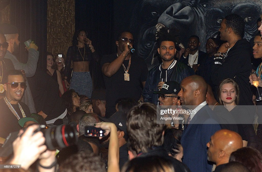 Sean 'P. Diddy' Combs attends the 1 OAK LA Grand Opening Weekend hosted by Jay Z and presented by D'usse on January 25, 2014 in Los Angeles, California.