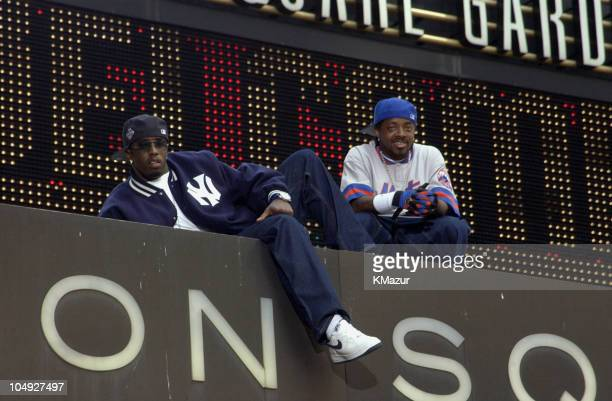 Sean 'P Diddy' Combs Jermaine Dupri on Madison Square Garden marquee