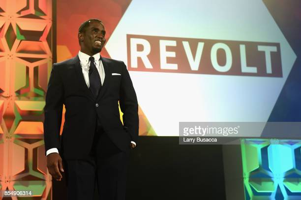 Sean P Diddy Combs speaks onstage at the 34th Annual Walter Kaitz Foundation Fundraising Dinner at Marriot Marquis Times Square on September 27 2017...