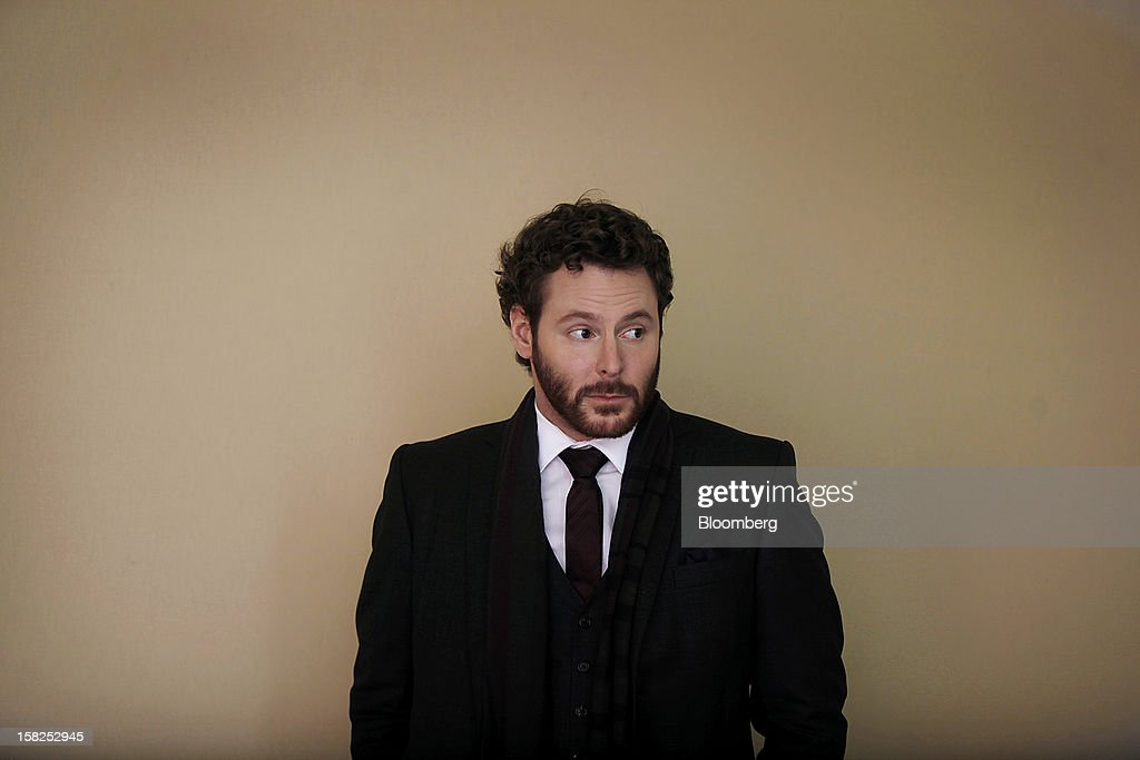 'BEST PHOTOS OF 2012' (): Sean Parker, co-founder of Napster Inc. and managing partner of the Founders Fund, stands for a photograph following a television interview on day three of the World Economic Forum (WEF) in Davos, Switzerland, on Friday, Jan. 27, 2012. The 42nd annual meeting of the World Economic Forum will be attended by about 2,600 political, business and financial leaders at the five-day conference. Photographer: Simon Dawson/Bloomberg via Getty Images