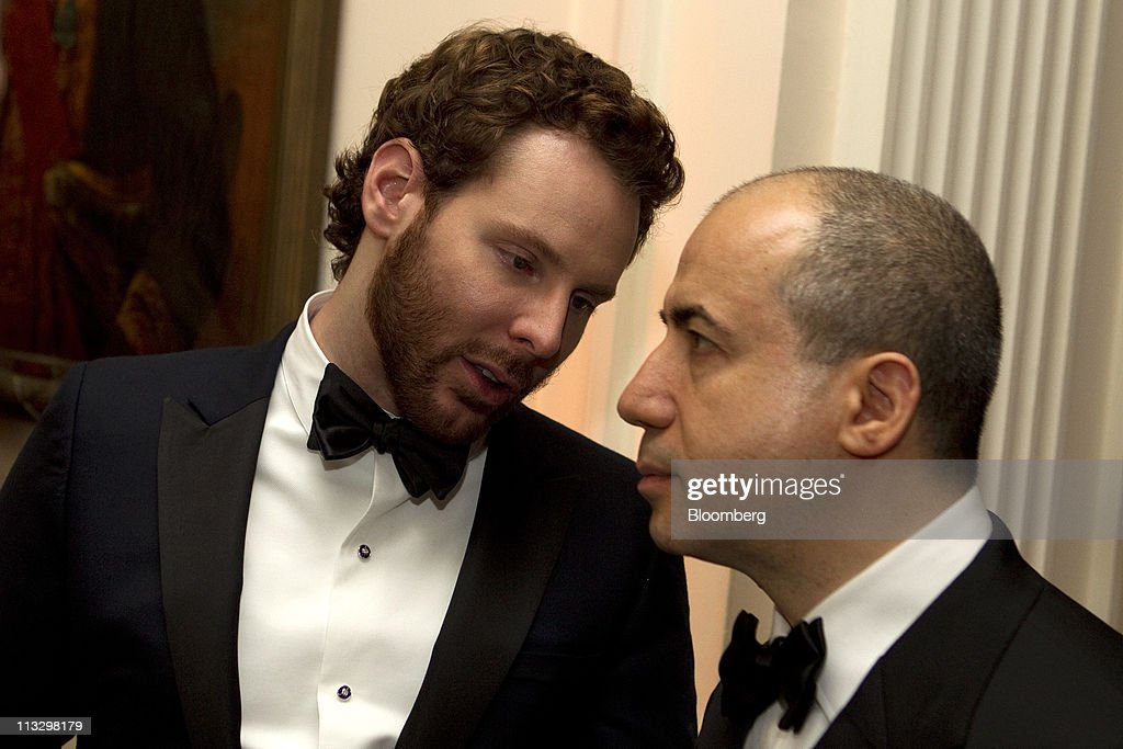 Sean Parker, co-founder of Napster Inc., left, attends the Bloomberg Vanity Fair White House Correspondents' Association (WHCA) dinner afterparty in Washington, D.C., U.S., on Saturday, April 30, 2011. The dinner raises money for WHCA scholarships and honors the recipients of the organization's journalism awards. Photographer: Andrew Harrer/Bloomberg via Getty Images