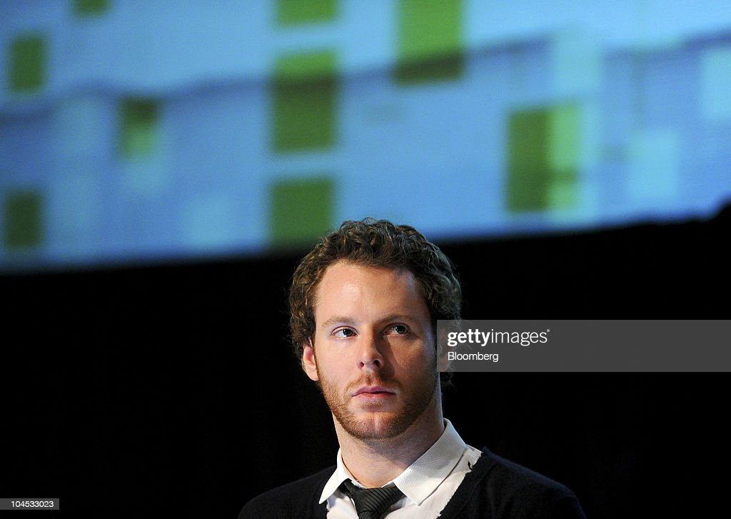 Sean Parker, managing partner of Founders Fund, listens during the TechCrunch Disrupt conference in San Francisco, California, U.S., on Tuesday, Sept. 28, 2010. Parker co-founded Napster Inc., and was previously president of Facebook Inc. Photographer: Noah Berger/Bloomberg via Getty Images