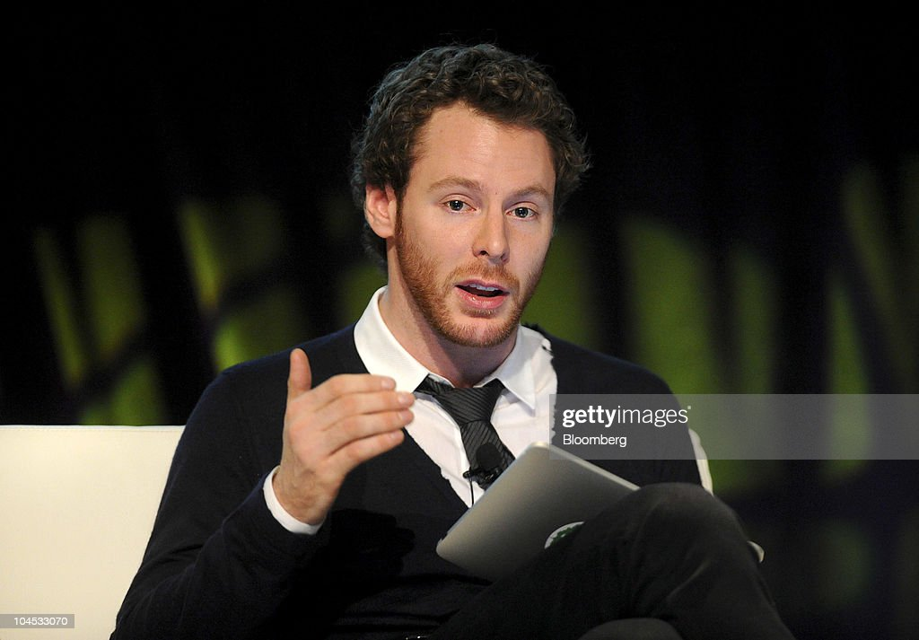 Sean Parker, managing partner of Founders Fund, speaks at the TechCrunch Disrupt conference in San Francisco, California, U.S., on Tuesday, Sept. 28, 2010. Parker co-founded Napster Inc., and was previously president of Facebook Inc. Photographer: Noah Berger/Bloomberg via Getty Images