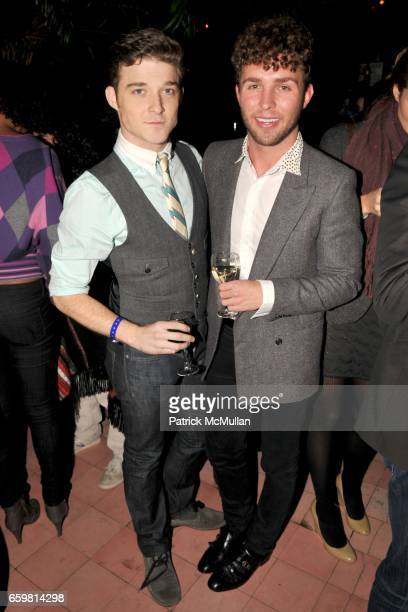 Sean Patrick Murray and Timo Weiland attend The Humane Society of the United States Cool vs Cruel benefit at The Bowery Hotel on November 11 2009 in...