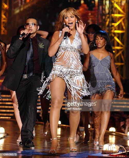 Sean Paul and Beyonce during MTV Europe Music Awards 2003 Show at Ocean Terminal Arena in Edinburgh Scotland