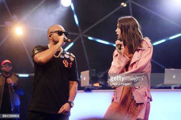 Sean Paul and Dua Lipa at MTV Live Stage at ExCel on June 9 2017 in London England MTV Live Stage is a new music series that puts the artist at the...