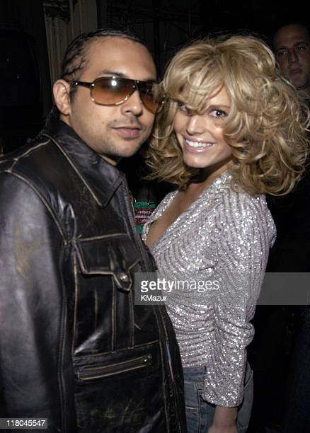 Sean Paul and Jessica Simpson during Z100's Jingle Ball 2003 Backstage at Madison Square Garden in New York City New York United States