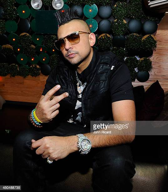 Sean Paul attends the Mr Vegas featuring Sean Paul and Fatman Scoop 'Party Tun Up' video shoot at WIP on November 6 2013 in New York City