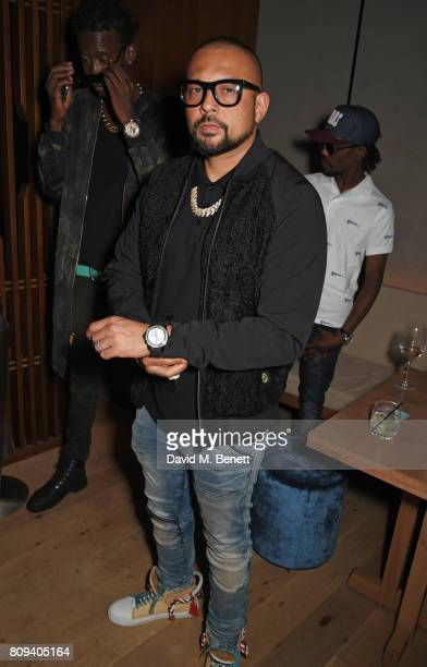 Sean Paul attends the Warner Music Group and British GQ Summer Party in partnership with Quintessentially at Nobu Hotel Shoreditch on July 5 2017 in...