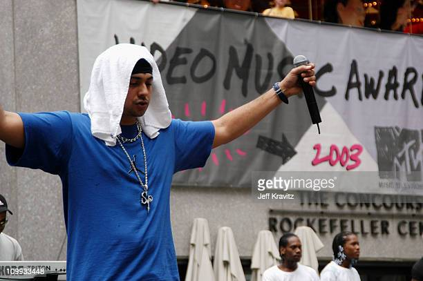 Sean Paul during 2003 MTV Video Music Awards Rehearsals Day Two at Rockefeller Plaza and Radio City Music Hall in New York City New York United States