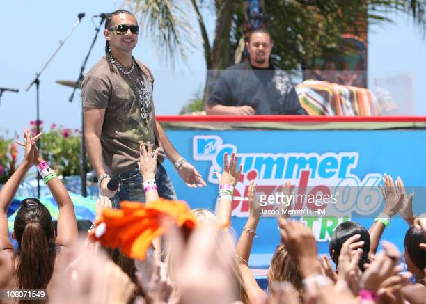 Sean Paul during MTV's 'Spankin' New Sounds of the Summer Week' May 31 2006 at The Wave House in San Diego California United States