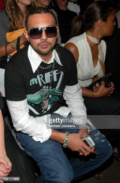 Sean Paul during Olympus Fashion Week Spring 2007 Y3 Front Row at Pier 40 in New York City New York United States