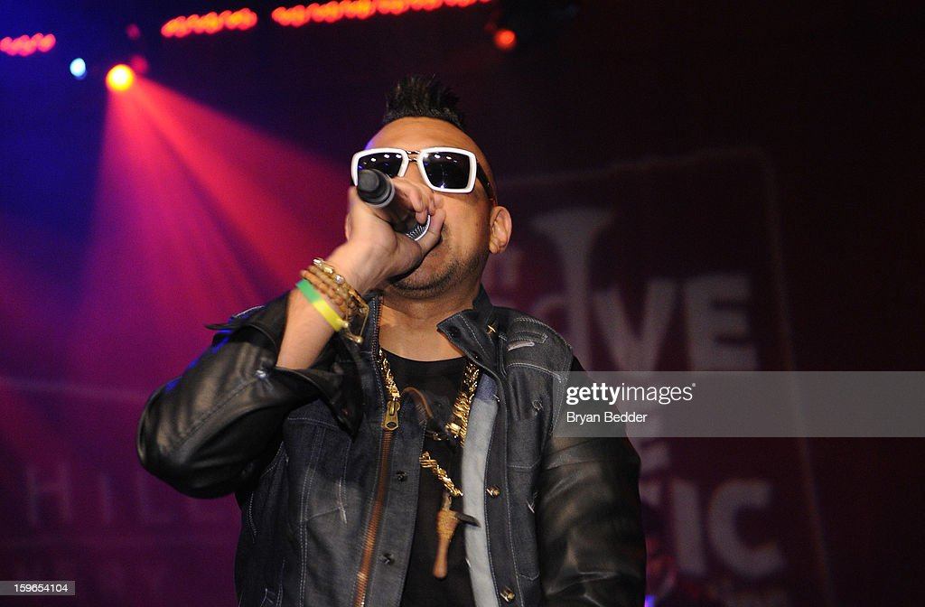 Sean Paul performs at VH1 Save The Music Foundation's Songwriters Music Series Remix featuring Swizz Beatz & Friends, presented by Monster DNA Headphones & William Hill Estate Winery at Hard Rock Cafe New York on January 17, 2013 in New York City.