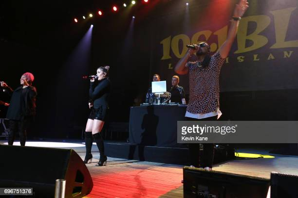 Sean Paul performs on stage with Kirsten Joy and Clean Bandit during the 2017 BLI Summer Jam at Nikon at Jones Beach Theater on June 16 2017 in...