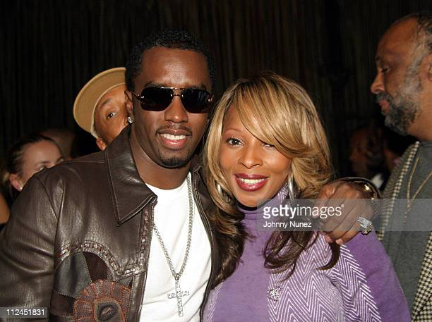 Sean 'PDiddy' Combs and Mary J Blige during 2nd Annual HipHop Summit Action Awards Benefit Dinner at The Lighthouse Chelsea Piers in New York City...