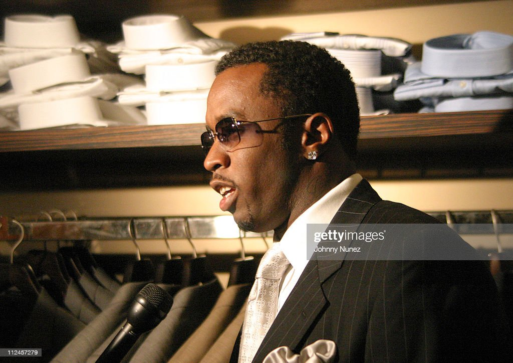 Sean 'P.Diddy' Combs during Sean John Celebrates the Launch of Sean John Collection and Sean John Tailoring at Sean John Store 5th Store in New York City, New York, United States.