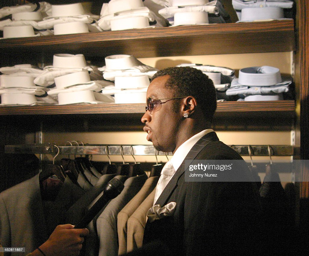 Sean P.Diddy Combs during Sean John Celebrates the Launch of Sean John Collection and Sean John Tailoring at Sean John Store 5th Store in New York City, New York, United States.
