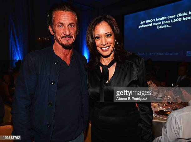 Sean Penn and Attorney General of California Kamala Harris attend the 2nd Annual Sean Penn and Friends Help Haiti Home Gala benefiting J/P HRO...