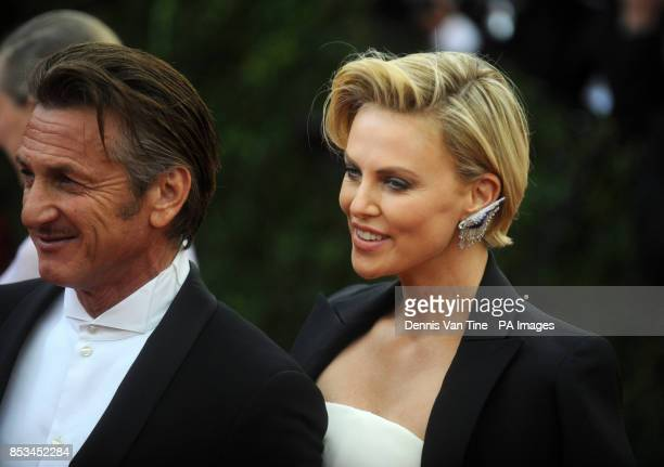 Sean Penn and Charlize Theron arriving at the Met Gala event at the Metropolitan Museum of Art in New York USA
