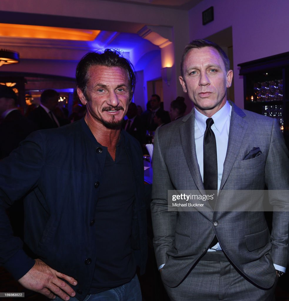 Sean Penn and Daniel Craig attend the 2nd Annual Sean Penn and Friends Help Haiti Home Gala benefiting J/P HRO presented by Giorgio Armani at Montage Hotel on January 12, 2013 in Los Angeles, California.