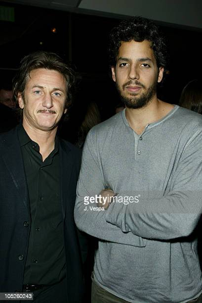 Sean Penn and David Blaine during '21 Grams' Premiere After Party at Academy of Motion Pictures Arts and Sciences in Beverly Hills California United...
