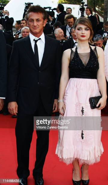 Sean Penn and Eve Hewson attend the 'This Must Be The Place' premiere during the 64th Annual Cannes Film Festival at Palais des Festivals on May 20...