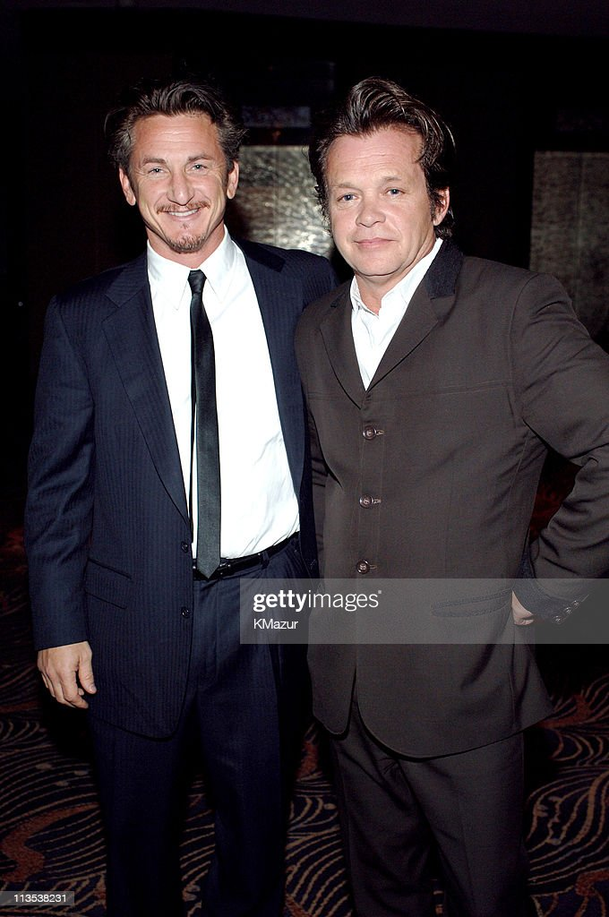 Sean Penn and John Mellencamp during 40th Anniversary of Syracuse University's S.I. Newhouse School of Public Communication - May 3, 2005 at Mandarin Orientel Hotel in New York City, New York, United States.