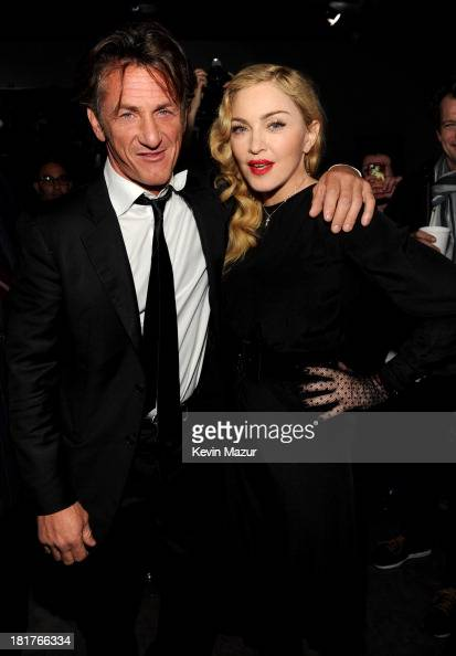 Sean Penn and Madonna attend Madonna and Steven Klein secretprojectrevolution at the Gagosian Gallery on September 24 2013 in New York City
