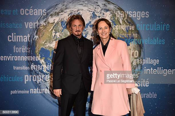 Sean Penn and Minister of Ecology Segolene Royal attend the 'J/P Haitian Relief Organisation' Reception as part of 21st Session Of Conference On...