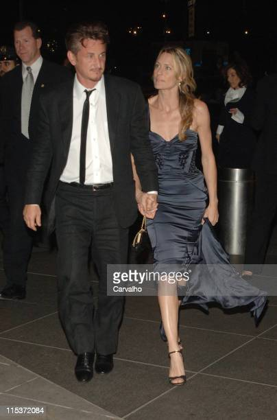Sean Penn and Robin Wright Penn during Time Magazine's 100 Most Influential People Celebration in New York City New York United States