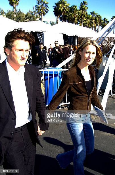 Sean Penn and Robin WrightPenn during 2004 IFP Independent Spirit Awards Press Room at Santa Monica Pier in Santa Monica California United States