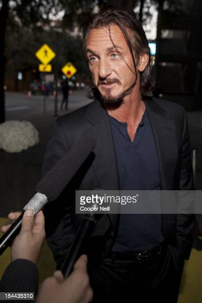Sean Penn arrives for 15 An Evening With Livestrong at the Austin Convention Center on October 19 2012 in Austin Texas