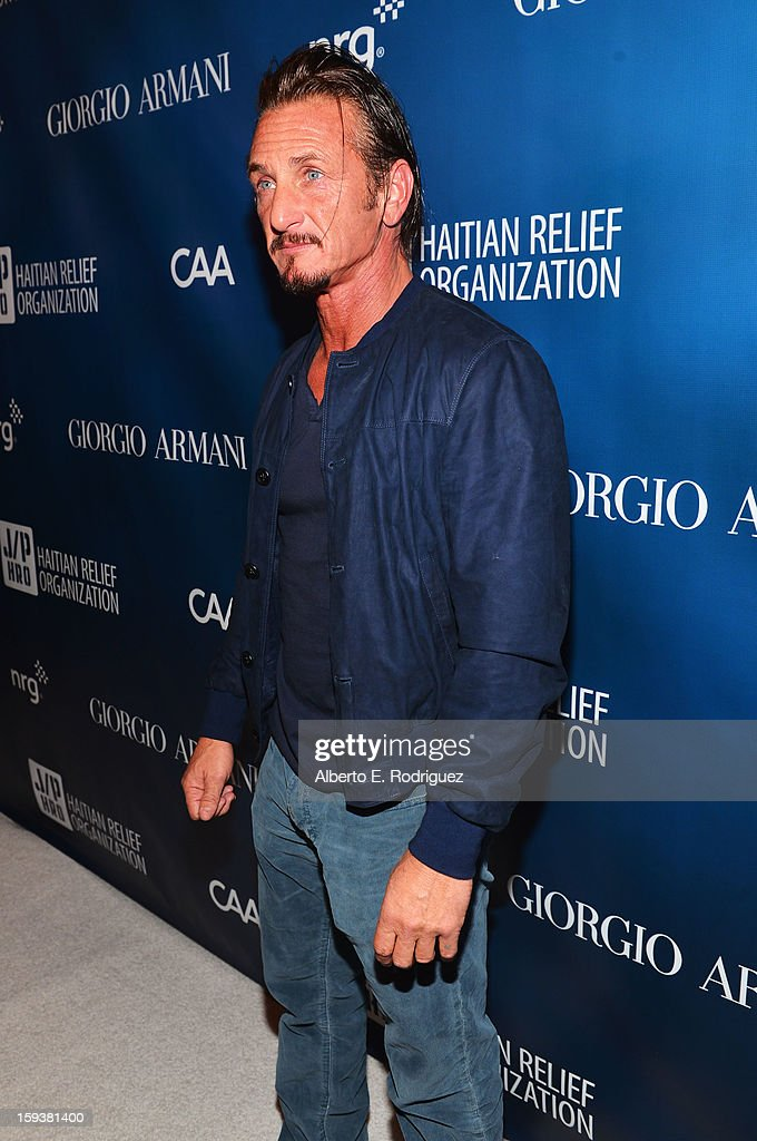 <a gi-track='captionPersonalityLinkClicked' href=/galleries/search?phrase=Sean+Penn&family=editorial&specificpeople=202979 ng-click='$event.stopPropagation()'>Sean Penn</a> attends the 2nd Annual <a gi-track='captionPersonalityLinkClicked' href=/galleries/search?phrase=Sean+Penn&family=editorial&specificpeople=202979 ng-click='$event.stopPropagation()'>Sean Penn</a> and Friends Help Haiti Home Gala benefiting J/P HRO presented by Giorgio Armani at Montage Hotel on January 12, 2013 in Los Angeles, California.