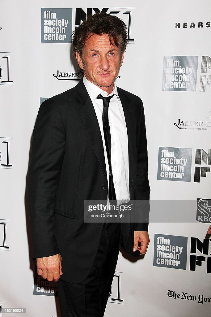 Sean Penn attends the Centerpiece Gala Presentation Of 'The Secret Life Of Walter Mitty' during the 51st New York Film Festival at Alice Tully Hall at Lincoln Center on October 5, 2013 in New York City.