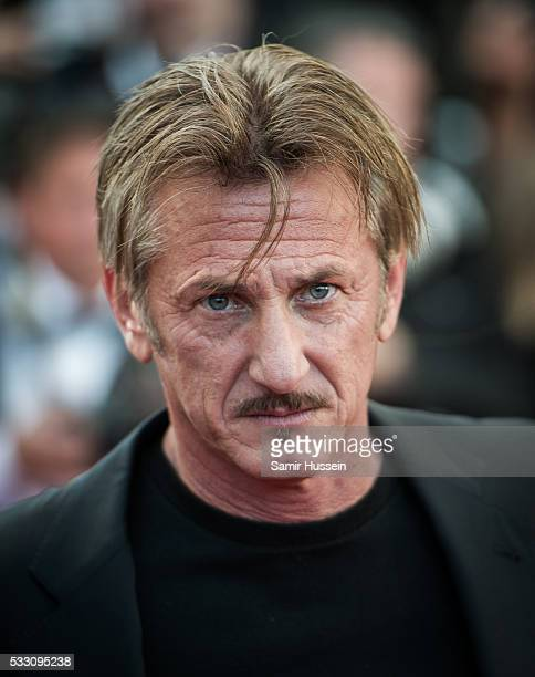 Sean Penn attends the screening of 'The Last Face' at the annual 69th Cannes Film Festival at Palais des Festivals on May 20 2016 in Cannes France