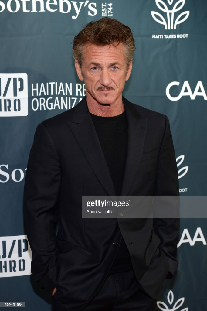 Sean Penn attends The Sean Penn & Friends Haiti Takes Root benefit dinner and auction supporting J/P Haitian Relief Organization at Sotheby's on May 5, 2017 in New York City.
