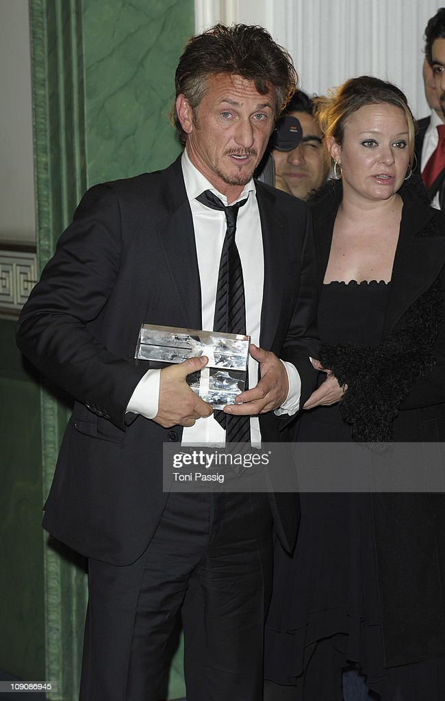 Sean Penn awarded with the Humanitarian Award for his work in Haiti at the Cinema for Peace Gala at the Konzerthaus am Gendarmenmarkt during day five of the 61st Berlin International Film Festival on February 14, 2011 in Berlin, Germany.