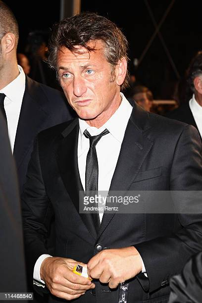 Sean Penn departs the 'This Must Be The Place' premiere during the 64th Annual Cannes Film Festival at Palais des Festivals on May 20 2011 in Cannes...