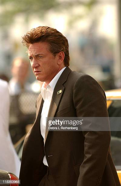 Sean Penn during On The Set of 'The Interpreter' May 13 2004 at Streets Of New York City in New York City New York United States