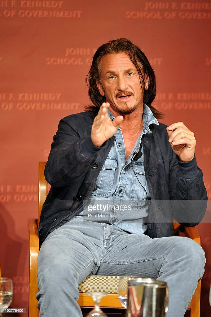 <a gi-track='captionPersonalityLinkClicked' href=/galleries/search?phrase=Sean+Penn&family=editorial&specificpeople=202979 ng-click='$event.stopPropagation()'>Sean Penn</a>, Founder, J/P Haitian Relief Organization and Ambassador at Large for Haiti, speaks at the John F Kennedy Jr. Forum: 'Haiti Progress And Challenges Three Years Later' on February 26, 2013 in Boston, Massachusetts.
