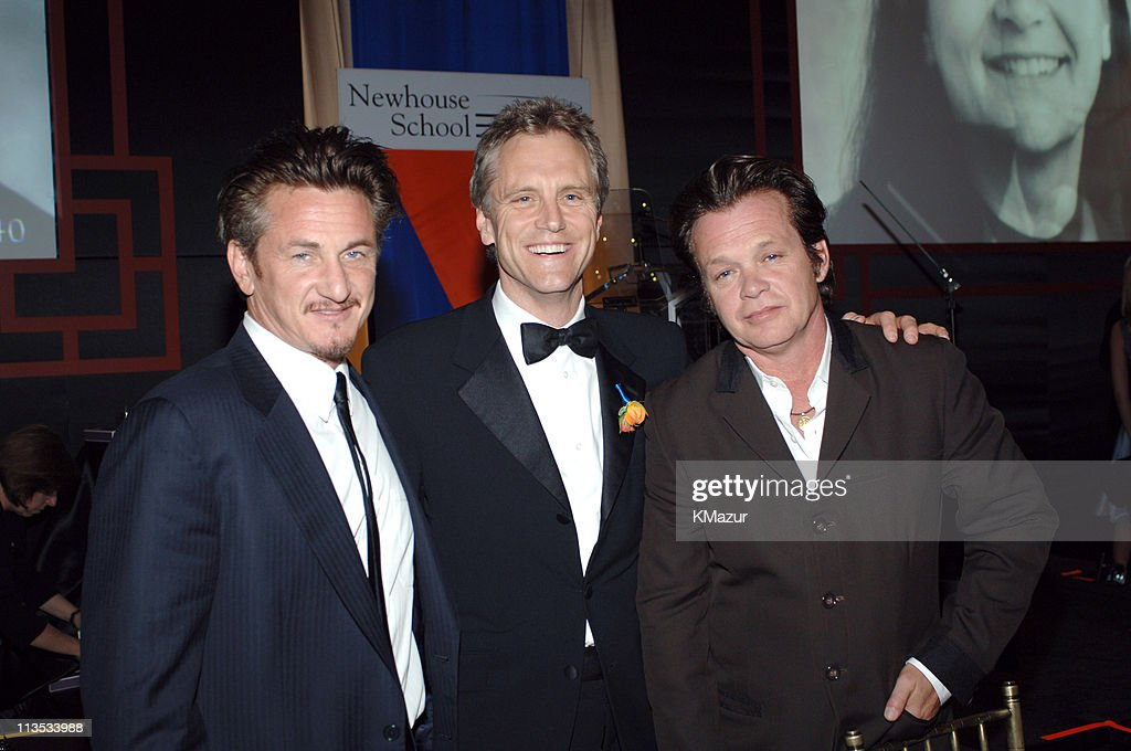 Sean Penn John Sykes and John Mellencamp during 40th Anniversary of Syracuse University's SI Newhouse School of Public Communication May 3 2005 at...