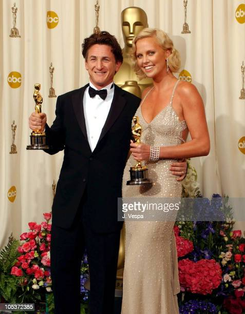 Sean Penn winner Best Actor for 'Mystic River' and and Charlize Theron winner Best Actress for 'Monster'