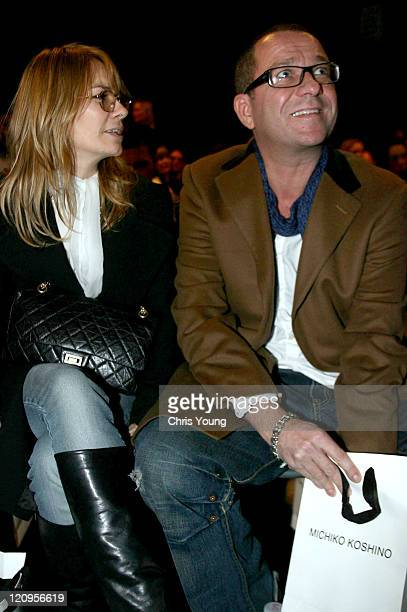 Sean Pertwee and Guest during London Fashion Week Autumn/Winter 2006 Michiko Koshino Front Row at Natural History Museum in London Great Britain