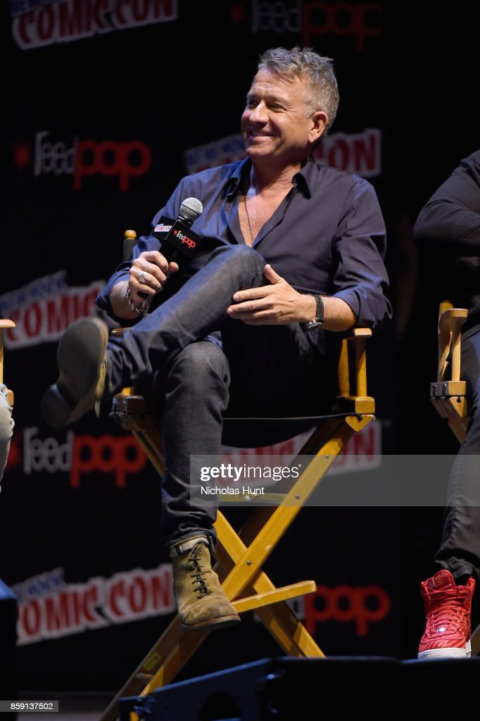 Sean Pertwee speaks onstage at the Gotham Panel during the 2017 New York Comic Con on October 8, 2017 in New York City.