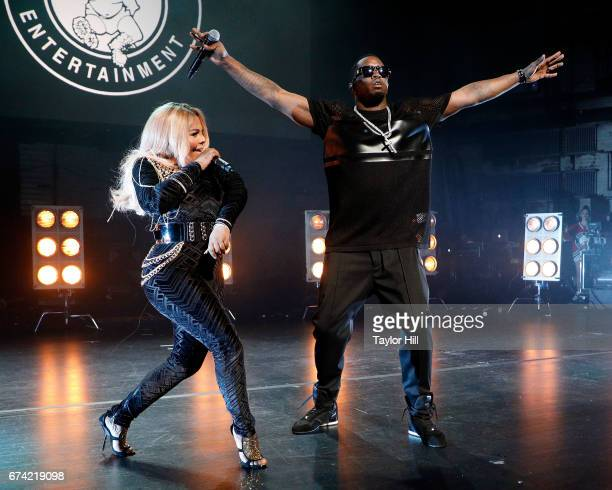 Sean 'Puff Daddy' Combs and Lil Kim perform during the concert celebrating 'Can't Stop Won't Stop' during the 2017 Tribeca Film Festival at Beacon...