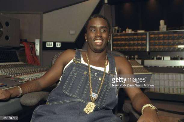 Sean 'Puffy' Combs in recording studio at 321 W 44th St