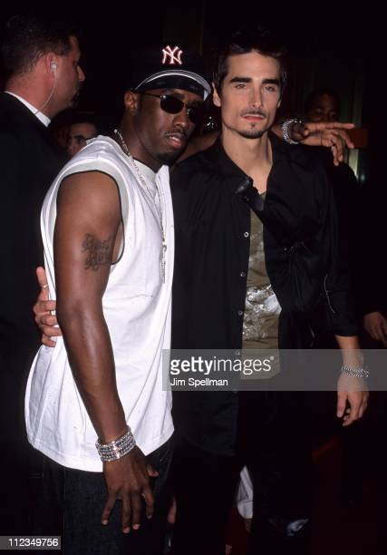 Sean 'Puffy' Combs with Kevin Richardson of the Backstreet Boys
