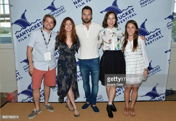 Sean Rappleyea Dana Delany Ryan Eggold Kristen Schaal and Alexandra Rizk attend the screening of 'Literally Right Before Aaron' during the 2017...