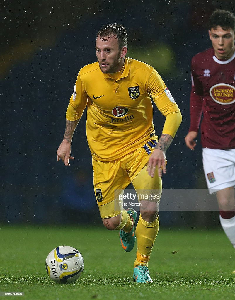 Sean Rigg of Oxford United in action during the npower League Two match between Oxford United and Northampton Town at Kassam Stadium on November 24, 2012 in Oxford, England.